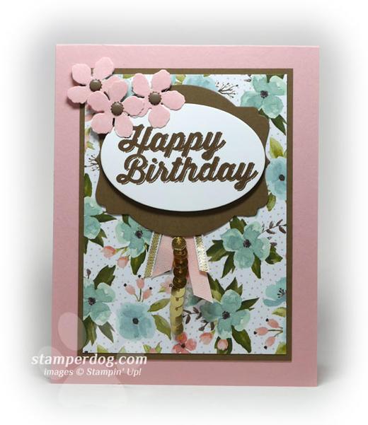 Pink Birthday Card Idea