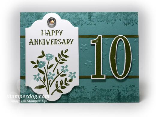 Tenth Anniversary Card Idea