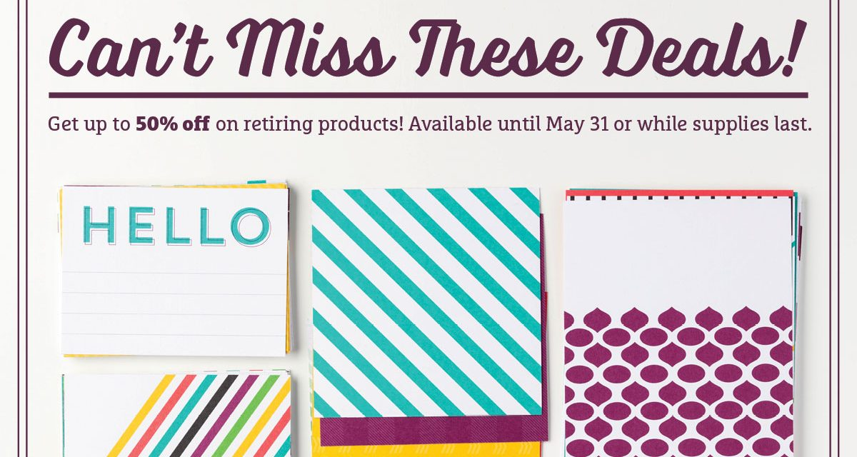 Retiring Stampin' Up! Stamps & Accessories