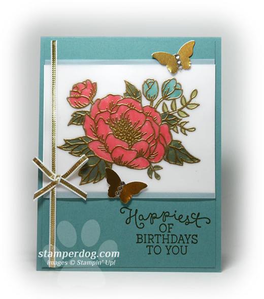 Vellum Birthday Card