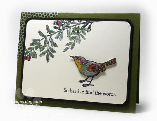 Bird Sympathy Card Idea