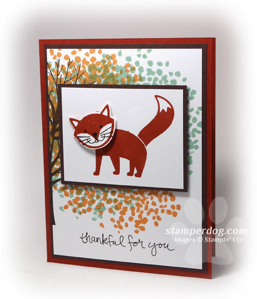 Thankful Fox Card