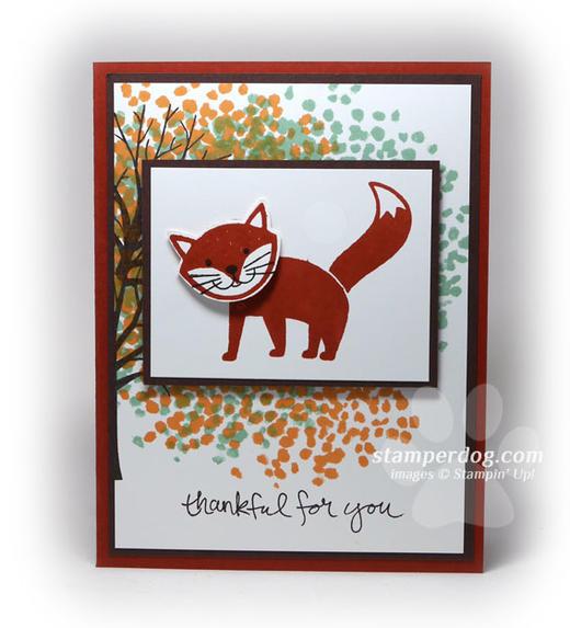 Fox Thank You Card
