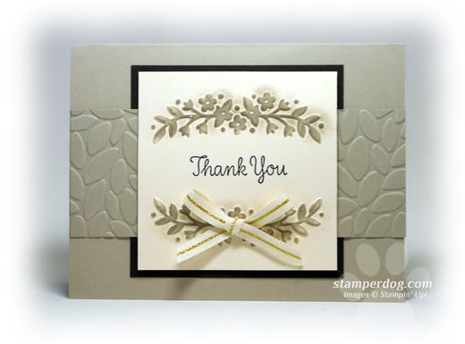 Monochromatic Thank You Card