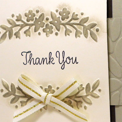 Elegant Monochromatic Thank You Card