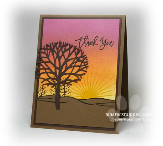 Tree Silhouette Card