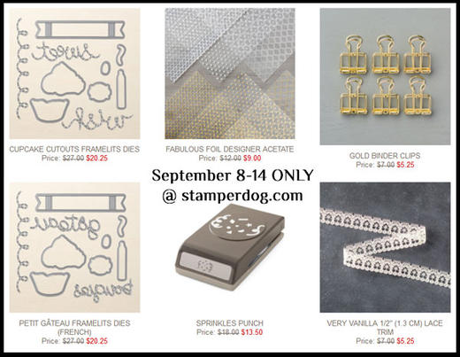 September Stampin' Up! Special