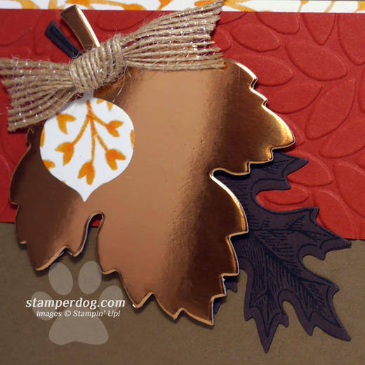 Metallic Fall Card