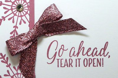 Pink October, Pink Christmas Card