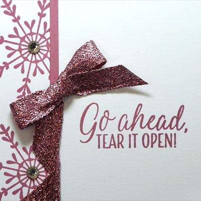 Pink October, Pink Christmas Card