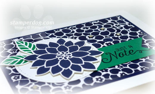 Navy Notecard