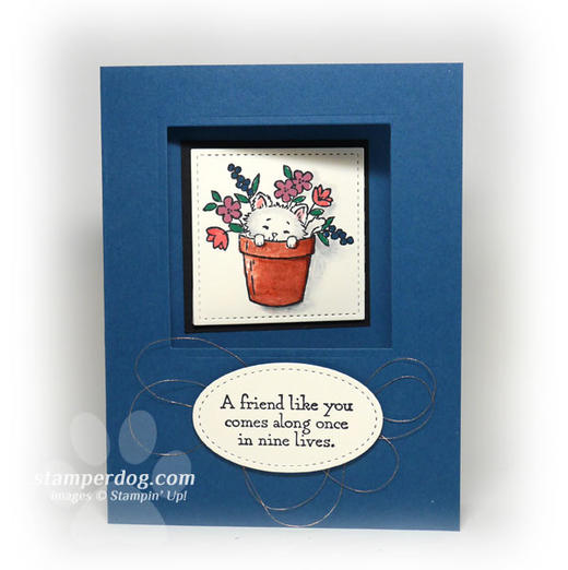 Friends Card with Cat