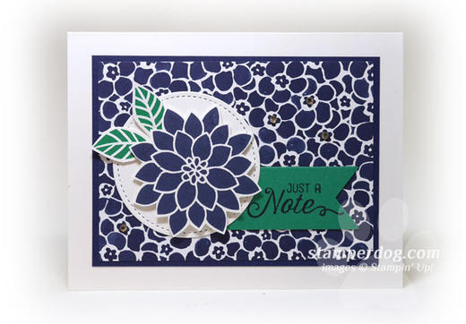 Navy Notecard