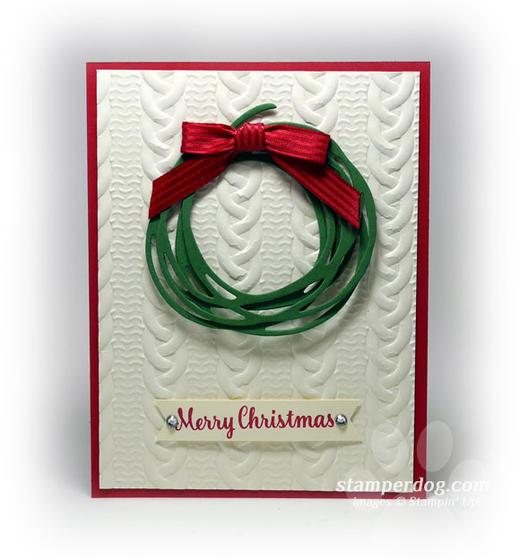 Easy Textured Christmas Card