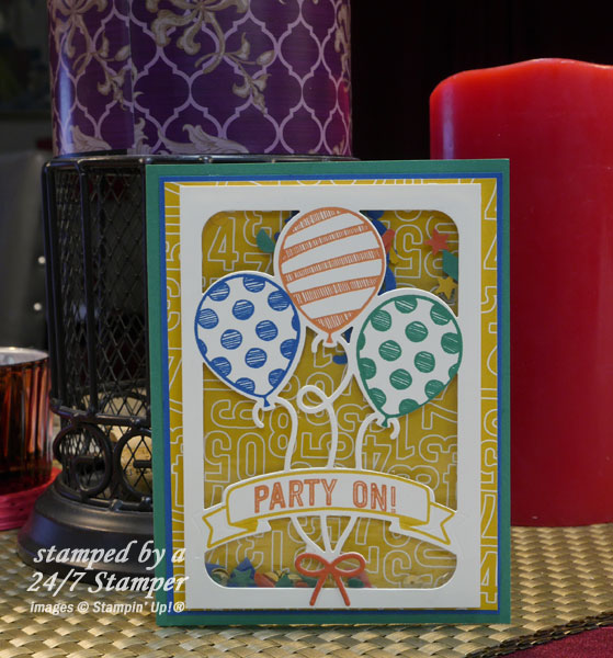 Happy birthday betty white stampin up demonstrator ann m birthday card with balloons bookmarktalkfo Images
