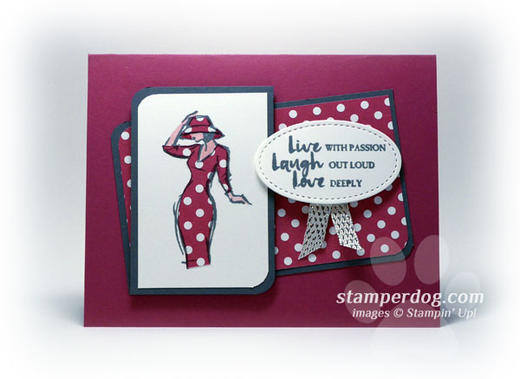 Paper Pieced Thinking of You Card