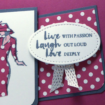 Paper Piecing a Thinking of You Card