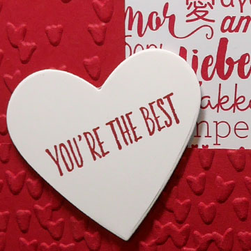 Making a Valentine Card without Valentine Stamps