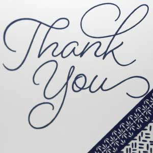 A Special Simple Thank You Card