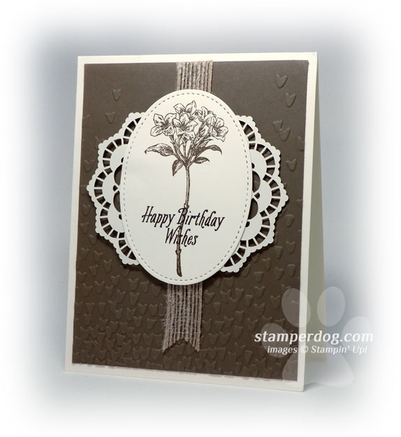 What A Nice Birthday Card Idea Stampin Up Demonstrator Ann M