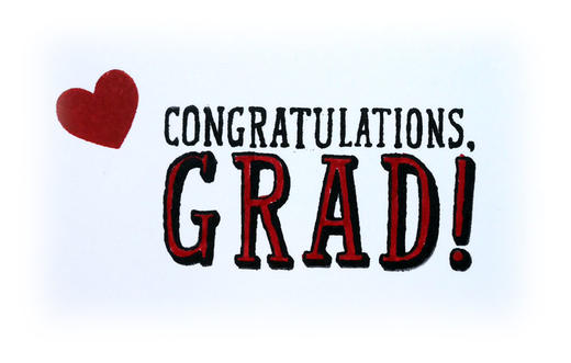 Red Graduation Card Idea