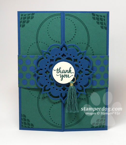 Eastern Elegance Gatefold Card