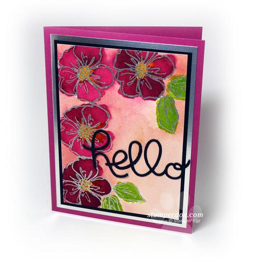 Handmade Watercolor Card