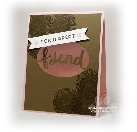 Window Card for a Friend