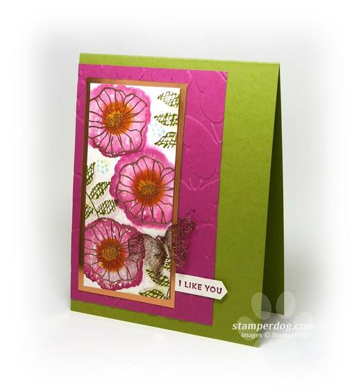 Watercolor I Like You Card