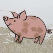 Beautiful Little Pig Card