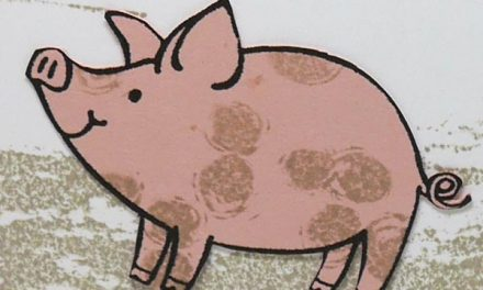 Beautiful Little Pig Card