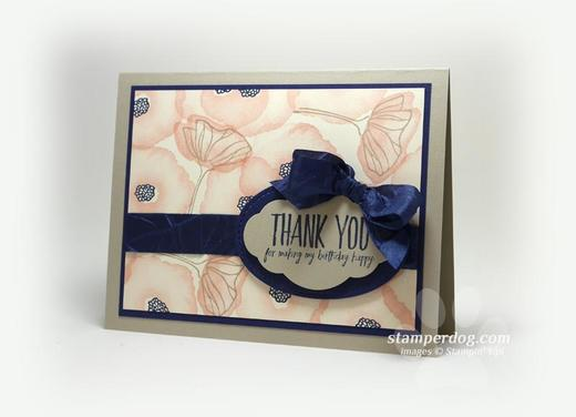 Faux Watercolor Thank You Card