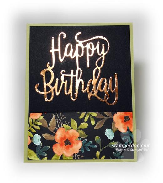 Copper Birthday Card