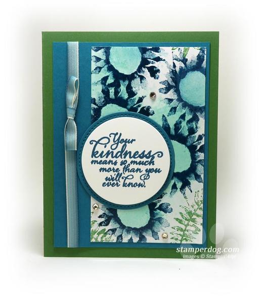 Blue and Green Thank You Card