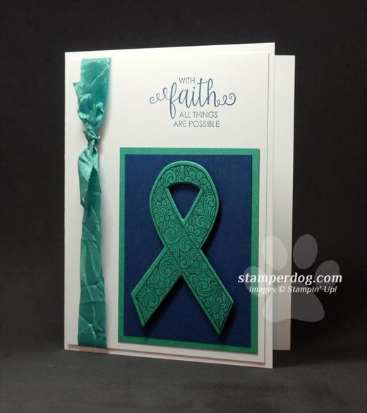 Liver Cancer Ribbon Card