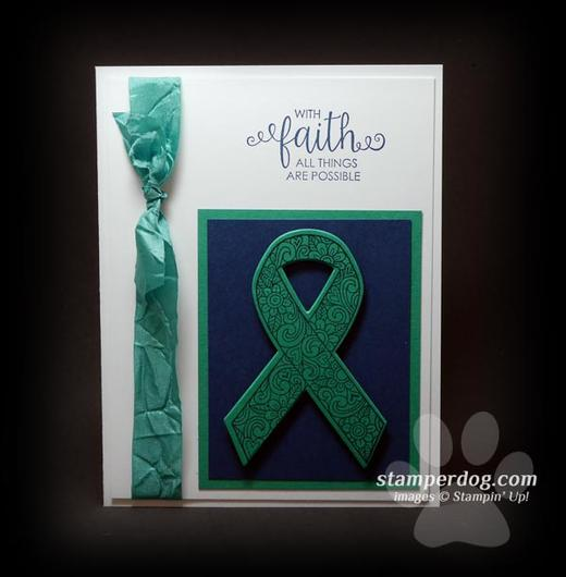 Liver Cancer Ribbon Card