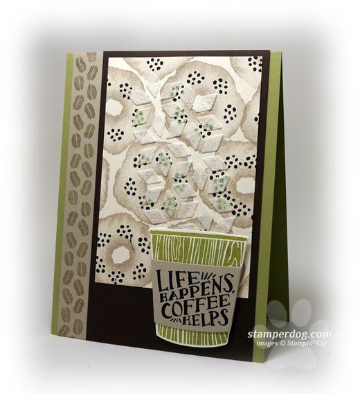 Coffee Card with Embossing Paste