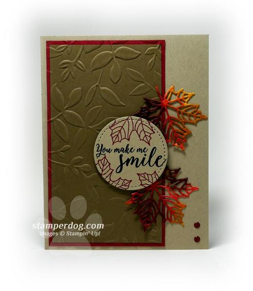 Watercolor Leaves Fall Card