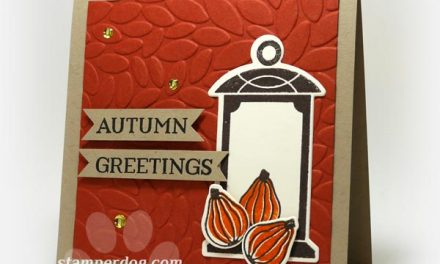 Quickie Autumn Card and Free Stamp Set!