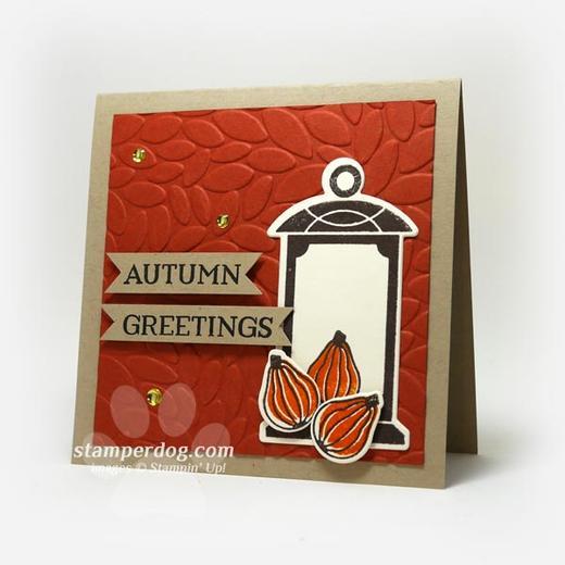 Autumn Lantern Card