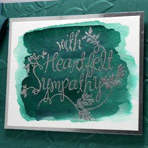 Embossed Green Sympathy Card