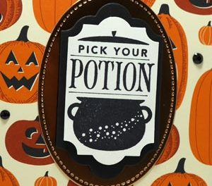Quick Pick Your Potion Halloween Card