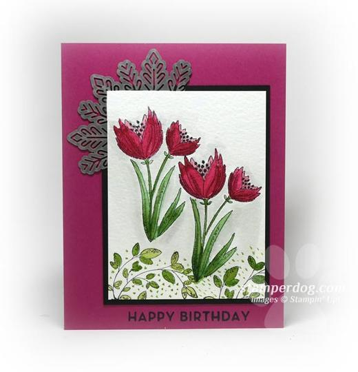 Watercolor Flowers Birthday Card