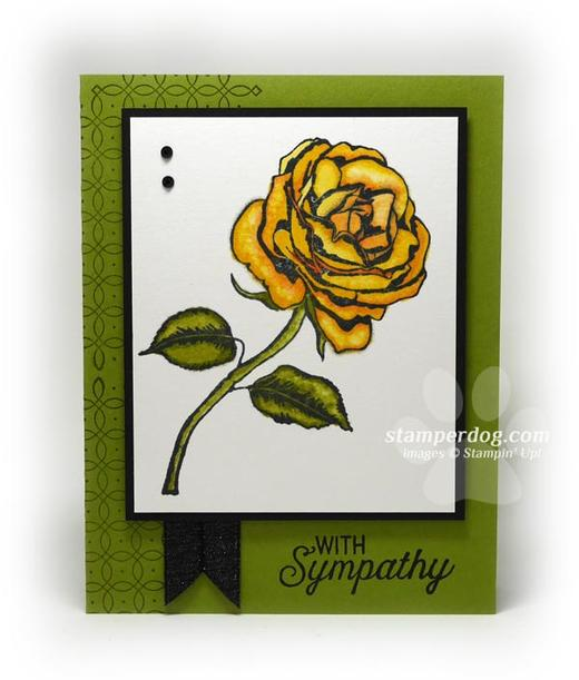 Yellow Rose Sympathy Card