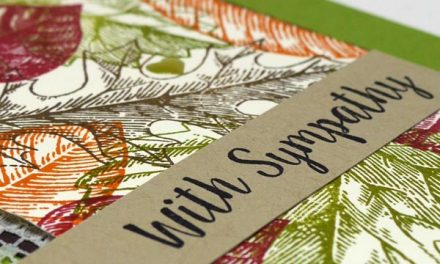 Autumn Sympathy Card Idea