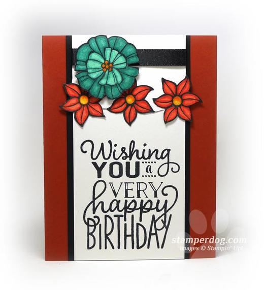 Fall Floral Birthday Card