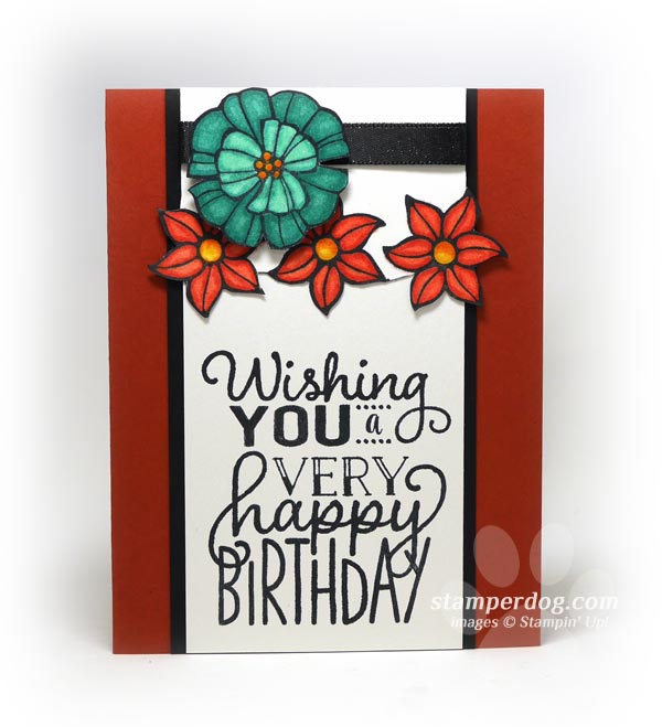 Fall Floral Birthday Card Colors Stampin Up Demonstrator Ann M