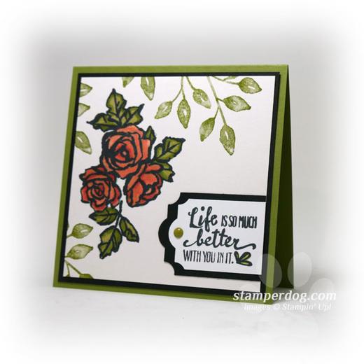 Square Watercolor Card