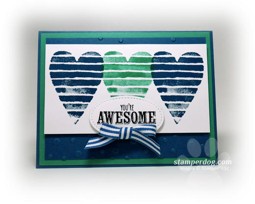 Blue and Green Valentine Card