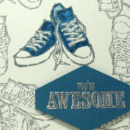Tennis Shoe Card for Someone Awesome